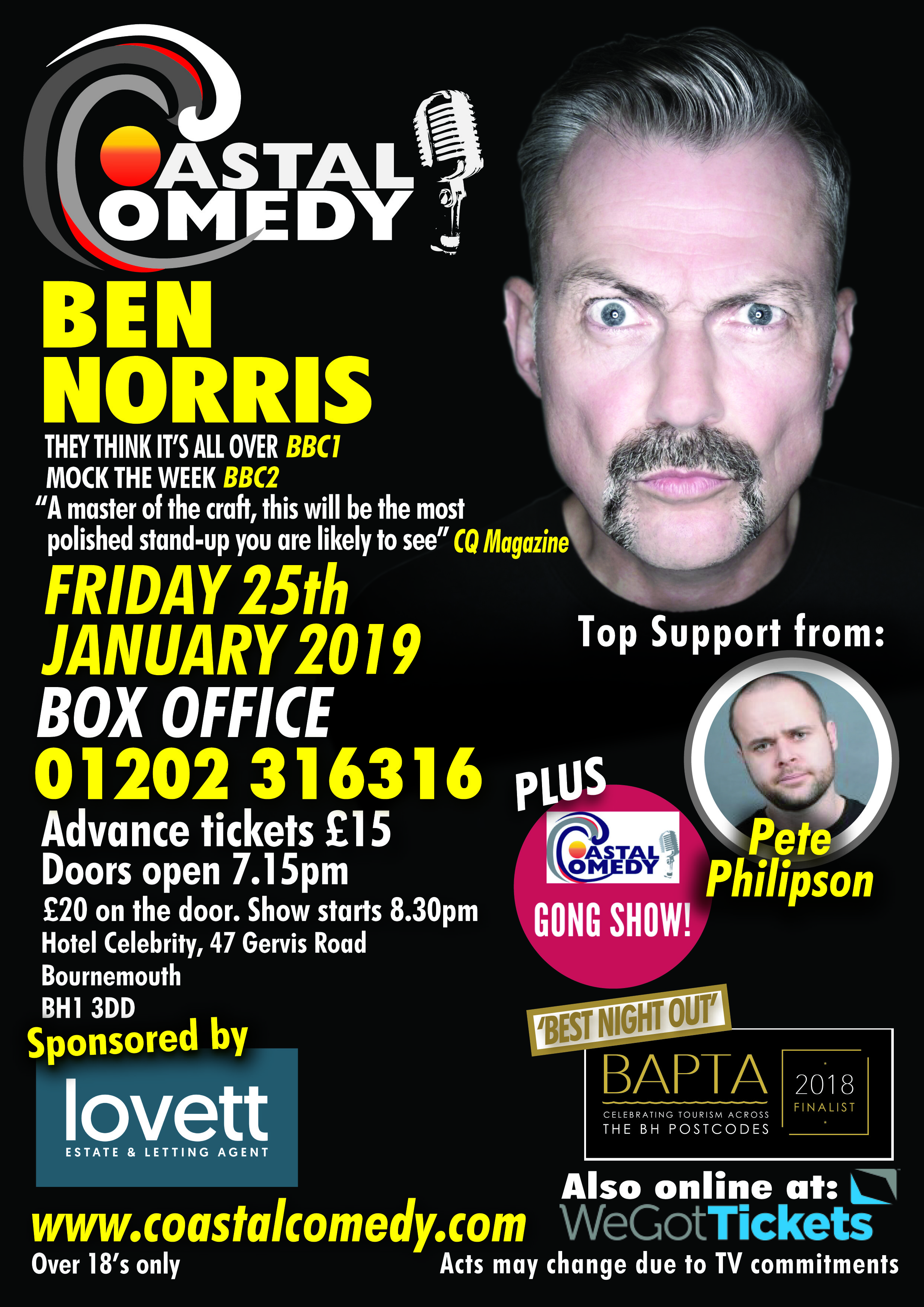 comedy, coastal, bournemouth, comedian, comic, poole, night life, best night out, dorset, whatson,