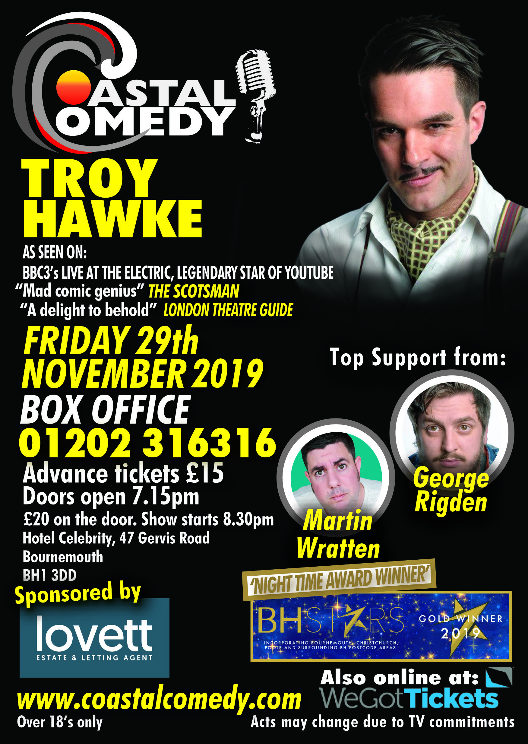 troy hawke, bournemouth, comedy, standup, whatson, entertainment, 25th October, dorset, standup, comedy club, lol, laugh out loud,