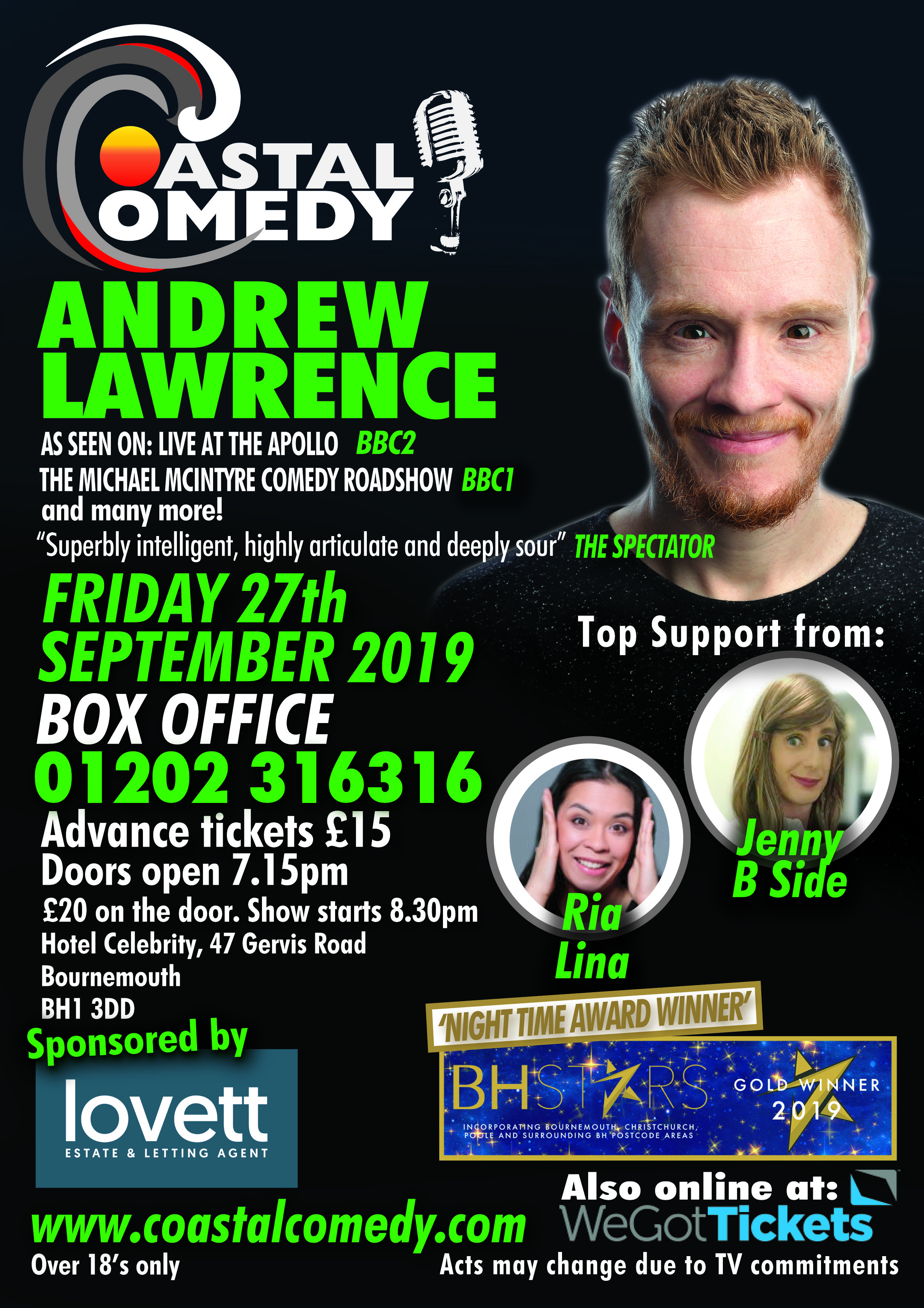Andrew Lawrence, bournemouth, poole,, bournemouth, comedy club,, standup,comedy, whatson, friday night, entertainment, funny, laughter,