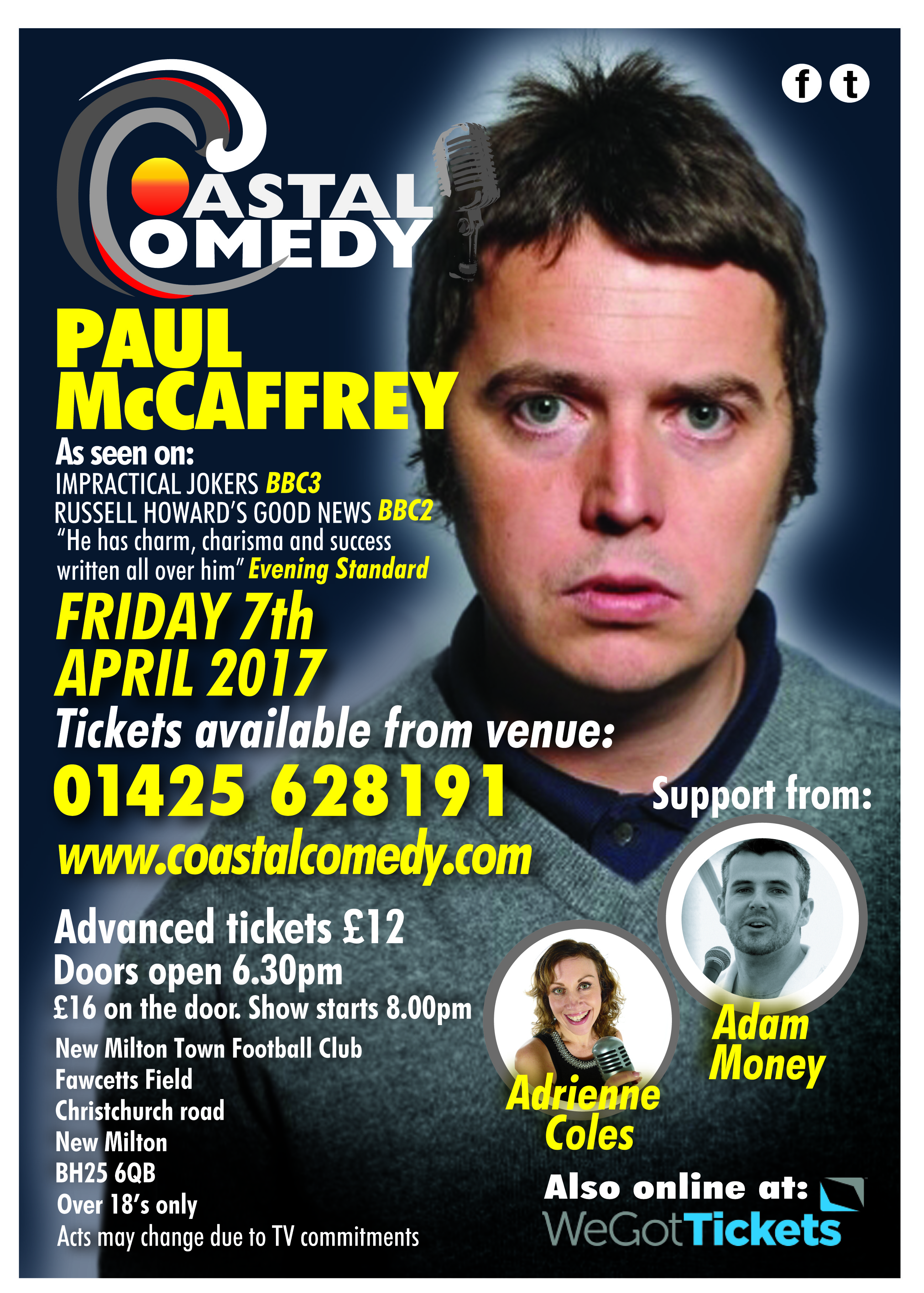 Paul McCaffrey, comedy, coastal comedy, New Milton, Hampshire, Stand-up