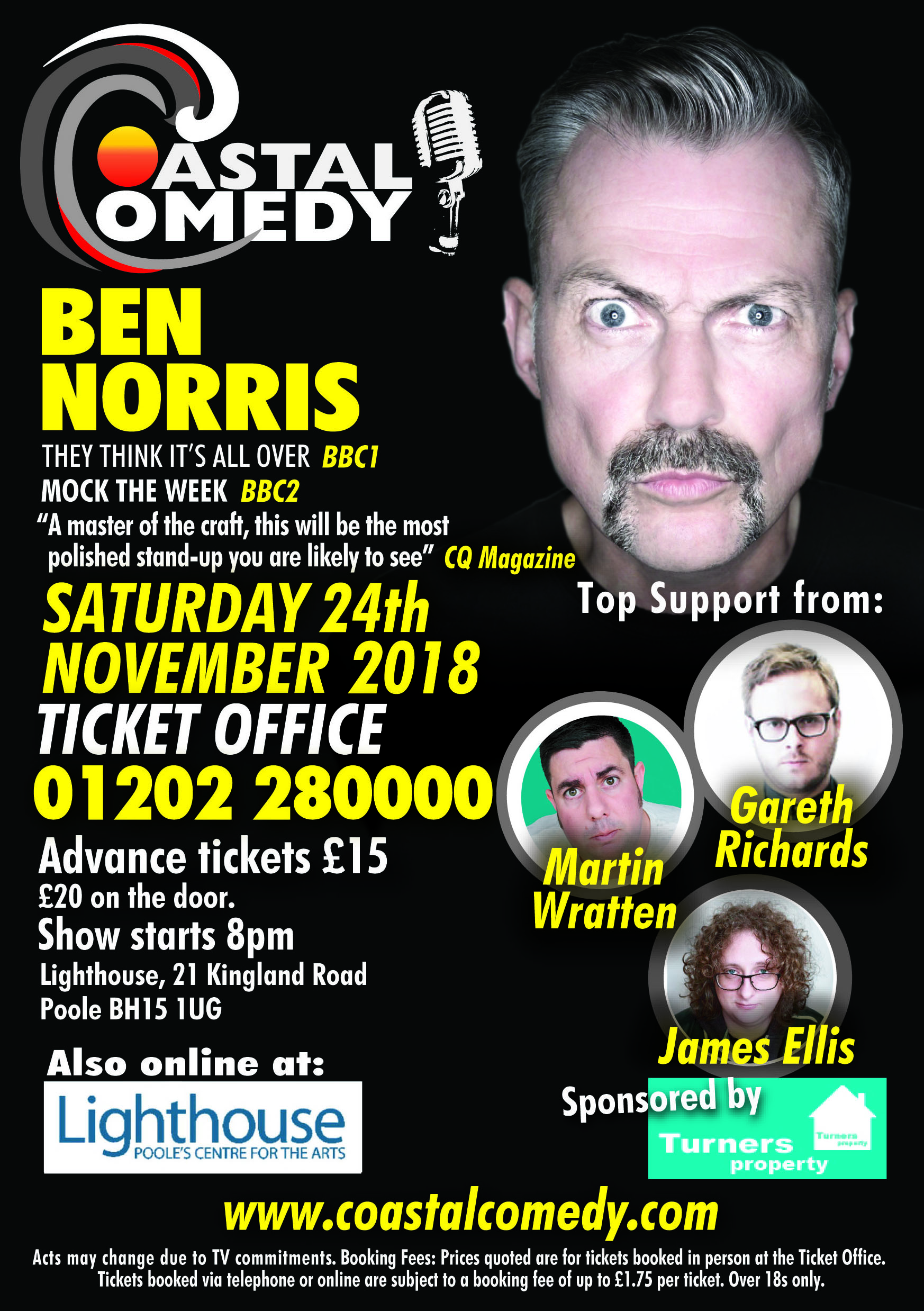 comedy, coastal, lighthouse, poole, night life, best night out, dorset, whatson,