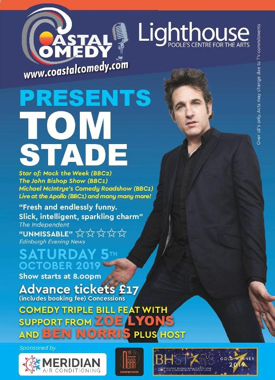 poole comedy club, bournemouth comedy club,Tom Stade, zoe lyons, stand-up, poole, lighthouse, stars, funny, best night out, comedy, coastal, colossal, poole