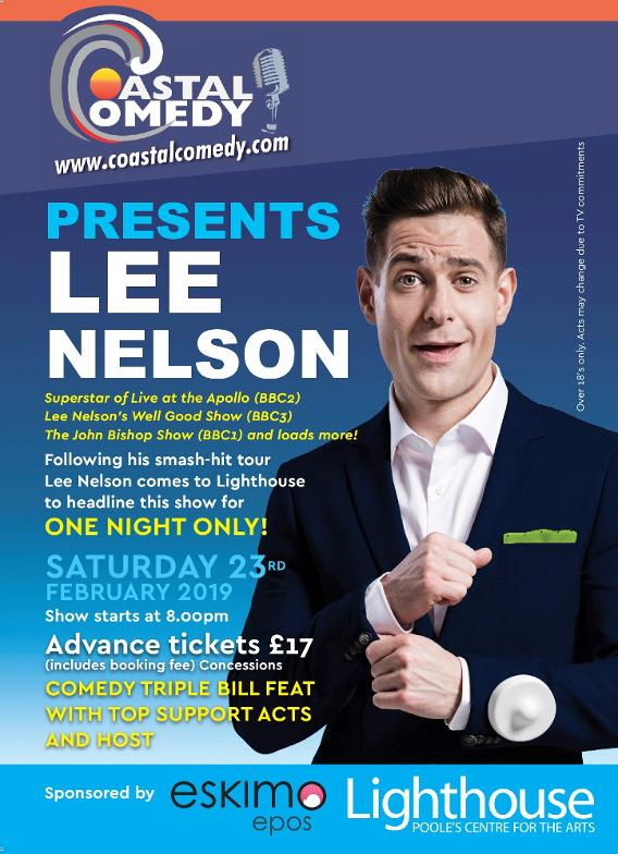 lee nelson, lighthouse, comedy, standup, laugh out loud, pavillion, dorset, whatson, tanyalee, paul tonkinson,