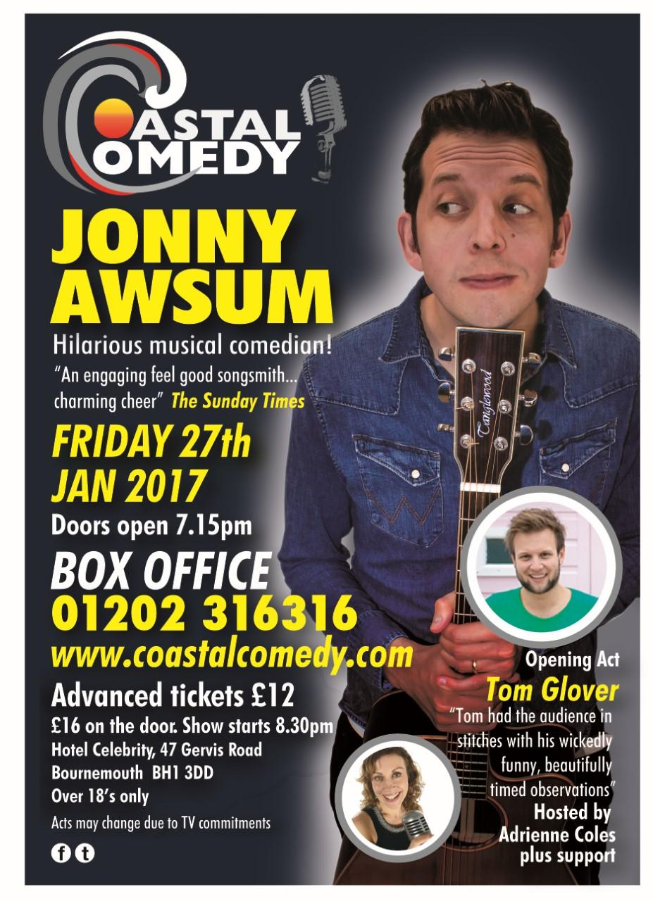 jonny awsum, comedy, stand up, night out, Coastal Comedy, Bournemouth, Dorset, Stand up,