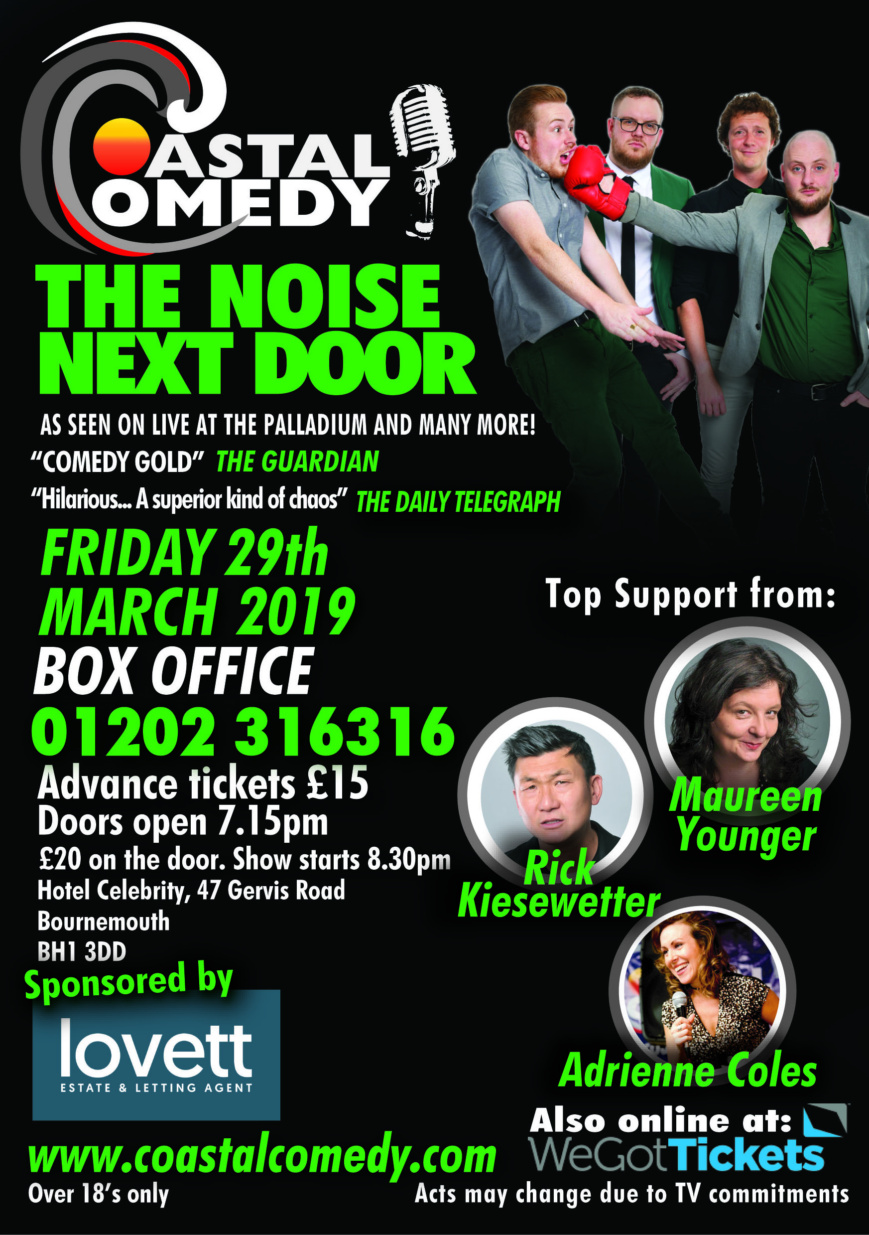 bournemouth, lol, standup, comedy, standup, hotel celebrity, bournemouth, dorset, whatson, funny, jokes, comedian, comic