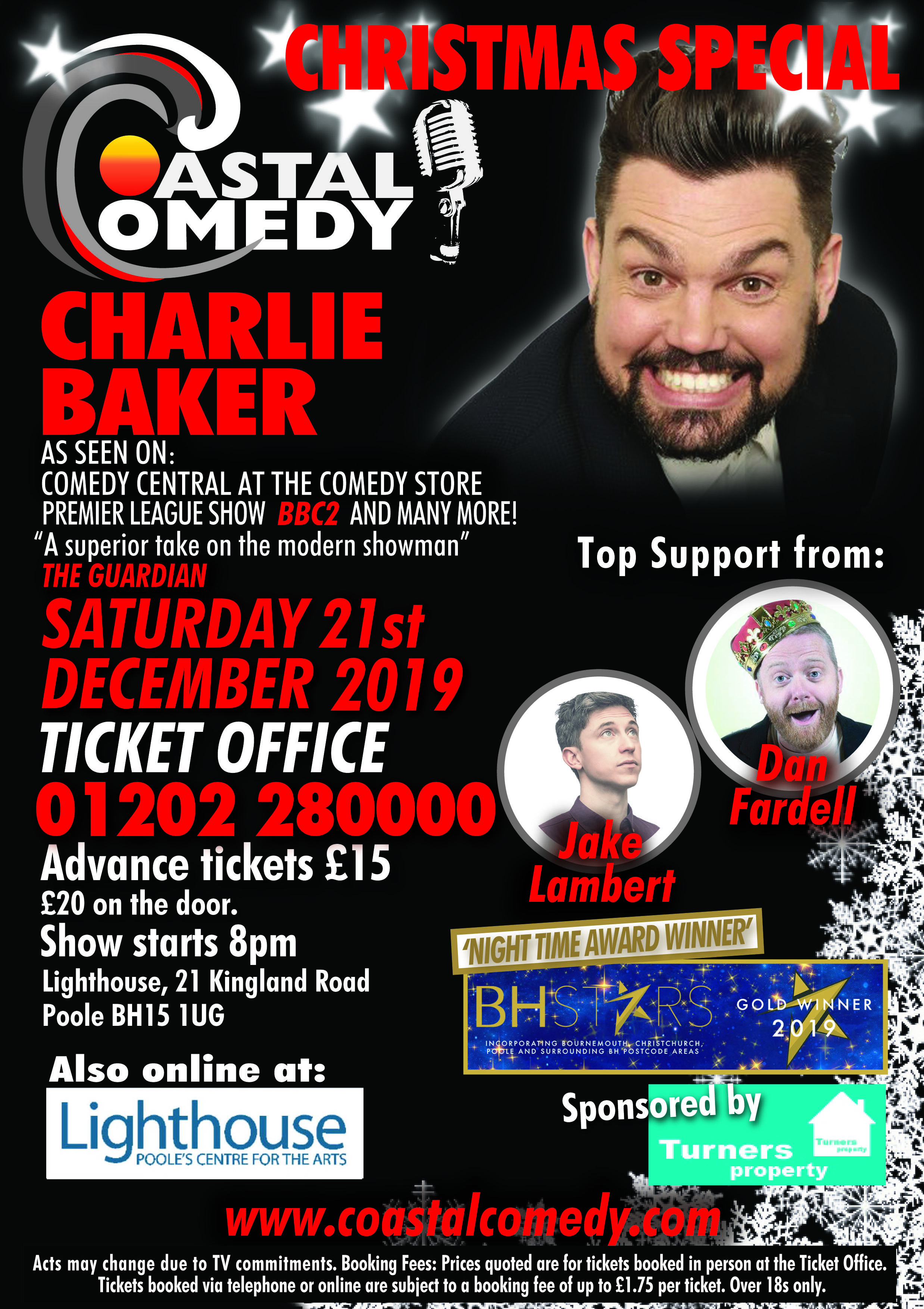 comedy, poole, standup, lighthouse, coastal comedy, tv headliner, live at the apollo,